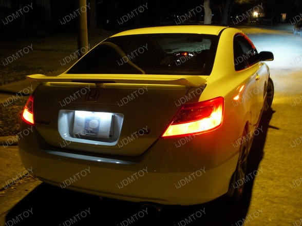 2008 Honda Civic Si Hid Upgrade On Low Beam Super Yellow